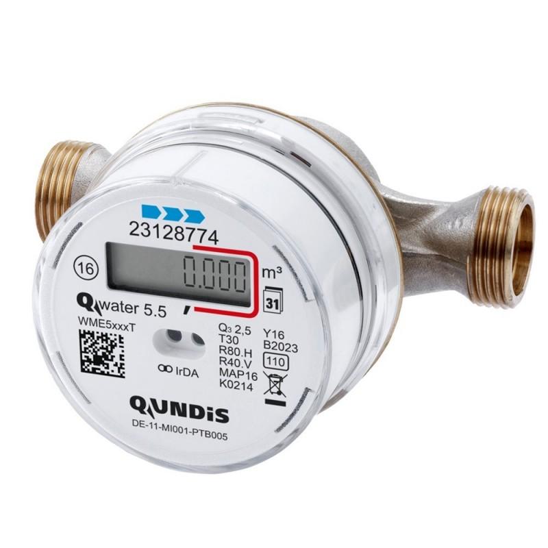 QUNDIS Qwater5.5 vezetékrendszerbe szerelhető vízóra (5000T2011)